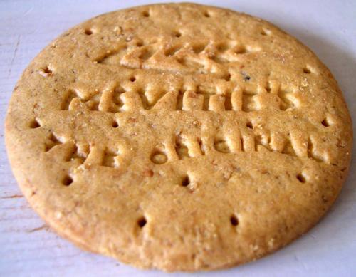 A digestive biscuit
