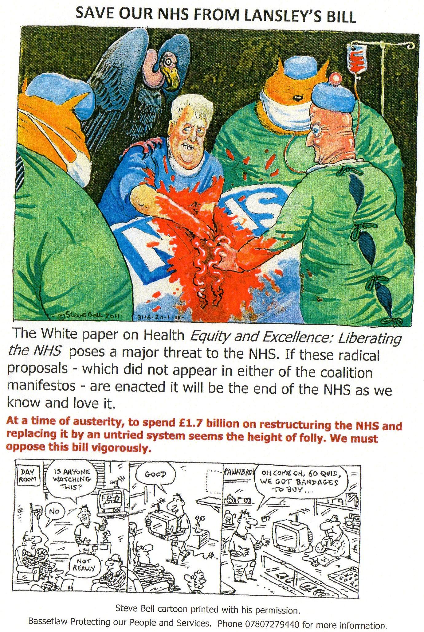 Opposing the NHS Reform Bill in Edwinstowe 17/05/2011